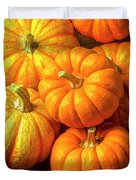 Basket Of Pumpkins Duvet Cover