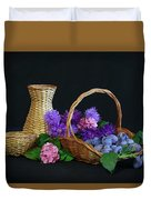 Basket With Astern Duvet Cover