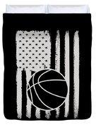 Basketball American Flag Usa Apparel Duvet Cover