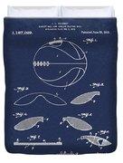 Basketball Patent 1916 Blue Duvet Cover