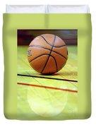 Basketball Reflections Duvet Cover