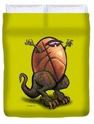 Basketball Saurus Rex Duvet Cover