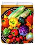 Basketful Of Fresh Vegetables Duvet Cover