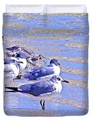 Basking On The Seashore Duvet Cover