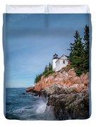 Bass Harbor Head Lighthouse Duvet Cover