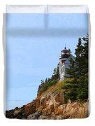 Bass Harbor Light House Duvet Cover