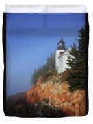 Bass Harbor Lighthouse, Acadia National Park Duvet Cover