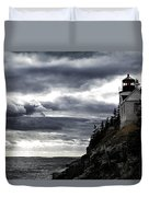 Bass Harbor Lighthouse In Acadia Np Duvet Cover