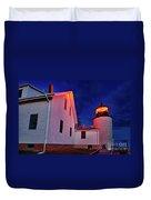 Bass Harbor Lighthouse Maine Duvet Cover