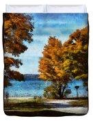 Bass Lake October Duvet Cover