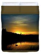Bass Lake Sunrise Duck Duvet Cover