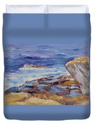 Bass Rocks Duvet Cover