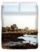 Bass Rocks Sunset Duvet Cover