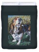 Basset Hound In Wheat Duvet Cover