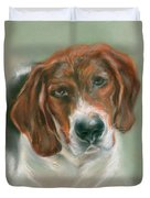Basset Hound Mix Pup Duvet Cover by MM Anderson