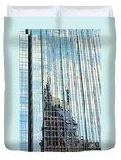 Bat Tower Reflected Duvet Cover
