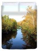 Batavia, Ohio Creek - Other Side Vertical Duvet Cover