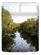 Batavia, Ohio Creek Vertical Duvet Cover