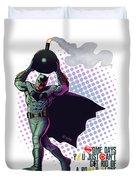 Batfleck And The Bomb 2 Duvet Cover