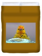 Bath Time Finch Duvet Cover