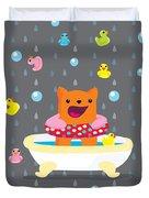 Bath Time  Duvet Cover
