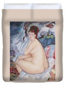Bather  My Reproduction Of Renoirs Work Duvet Cover
