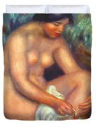 Bather Wiping A Wound 1909 Duvet Cover