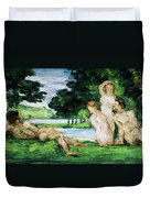 Bathers Male And Female Duvet Cover