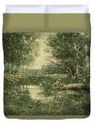 Bathers. Woodland Duvet Cover