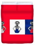Bathing Beauties Usa Red White Blue Duvet Cover