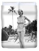 Bathing Suit Made Of Currency Duvet Cover