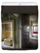 Bathroom In Deserted Building Duvet Cover