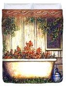 Bathtub Garden Duvet Cover