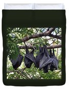 Bats Hanging Out Duvet Cover