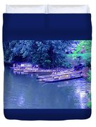 Batteaux At Cartersville Landing 1095t Duvet Cover