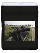 Battery Of Cannons At Fort Mchenry Duvet Cover