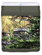 Battery Park Fall Colors  Duvet Cover
