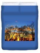Battery Park Sunset Duvet Cover