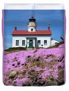 Battery Point Lighthouse In Crescent City Duvet Cover