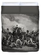 Battle At Princeton New Jersey Usa 1775 Duvet Cover