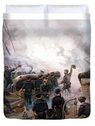 Battle Between Kearsarge And Alabama Duvet Cover