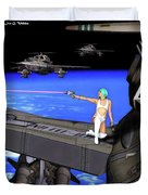 Battle Beyond The Atmosphere  Duvet Cover