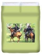 Battle By Horseback Duvet Cover