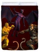 Battle Of Good Vs Evil Duvet Cover