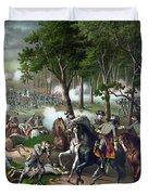 Battle Of Chancellorsville - Death Of Stonewall Duvet Cover