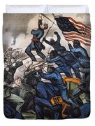 Battle Of Fort Wagner, 1863 Duvet Cover