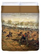 Battle Of Gettysburg Duvet Cover by Thure de Thulstrup