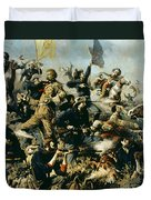 Battle Of Little Bighorn Duvet Cover