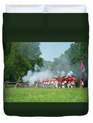 Battle Of Monmouth-redcoats Duvet Cover