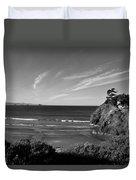 Battle Rock Beach Oregon Duvet Cover